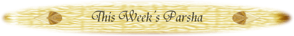 This week's parsha